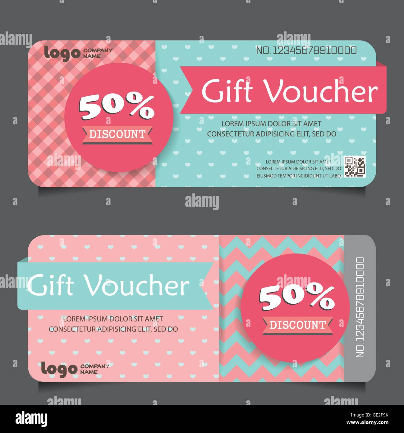 gift voucher certificate coupon template, cute and modern style. can ...