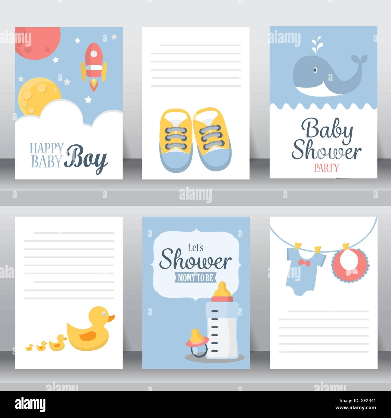 Baby shower party greeting and invitation card layout template in baby shower party greeting and invitation card layout template in a4 size vector illustration stopboris Images