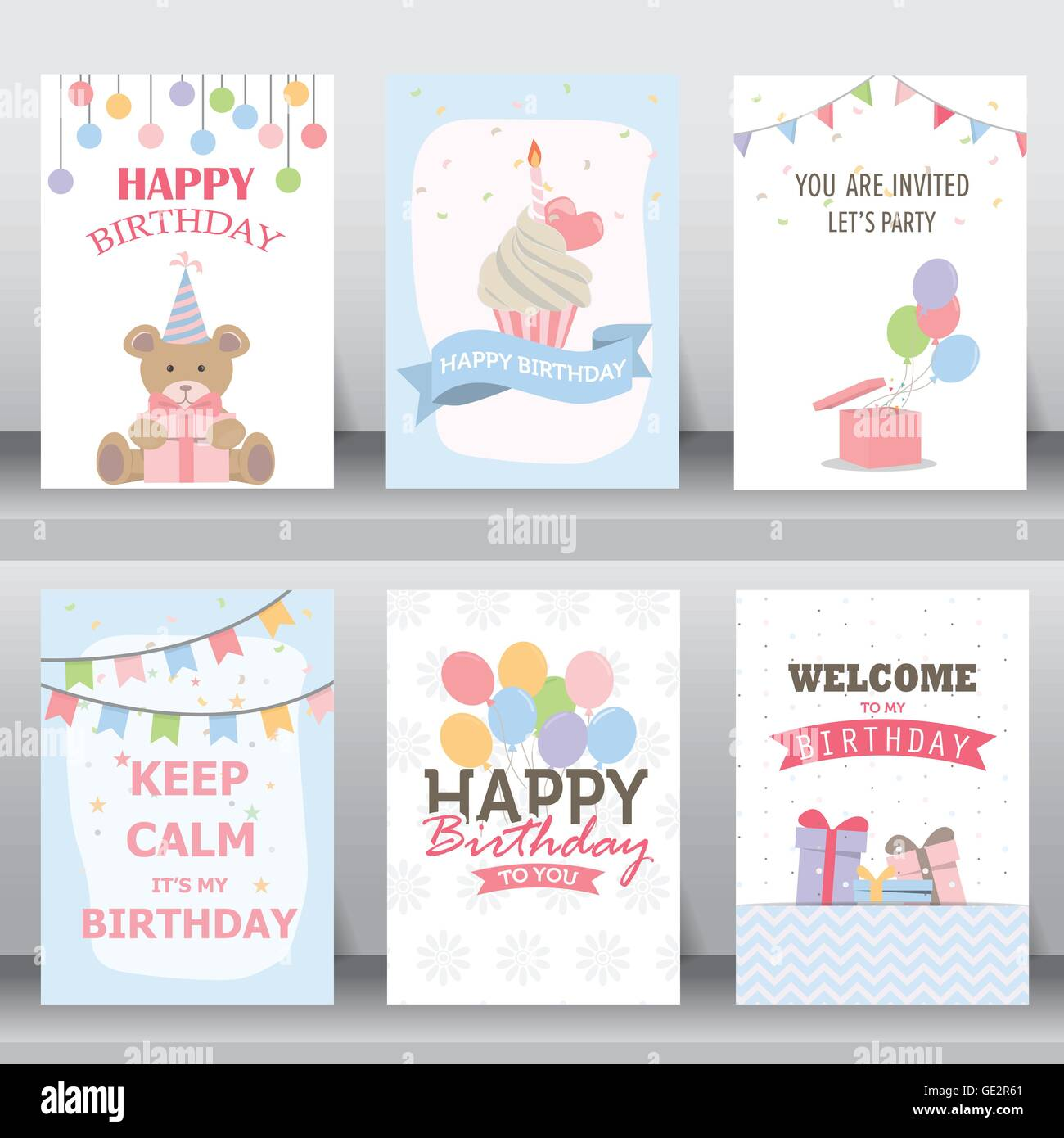 birthday, holiday, christmas greeting and invitation card. there are ...