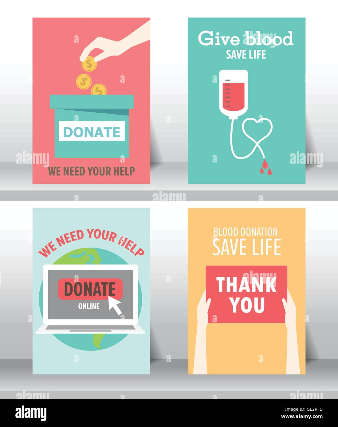 Give And Share Your Love To Poor People Charity And Donation Poster Stock Vector Image Art Alamy