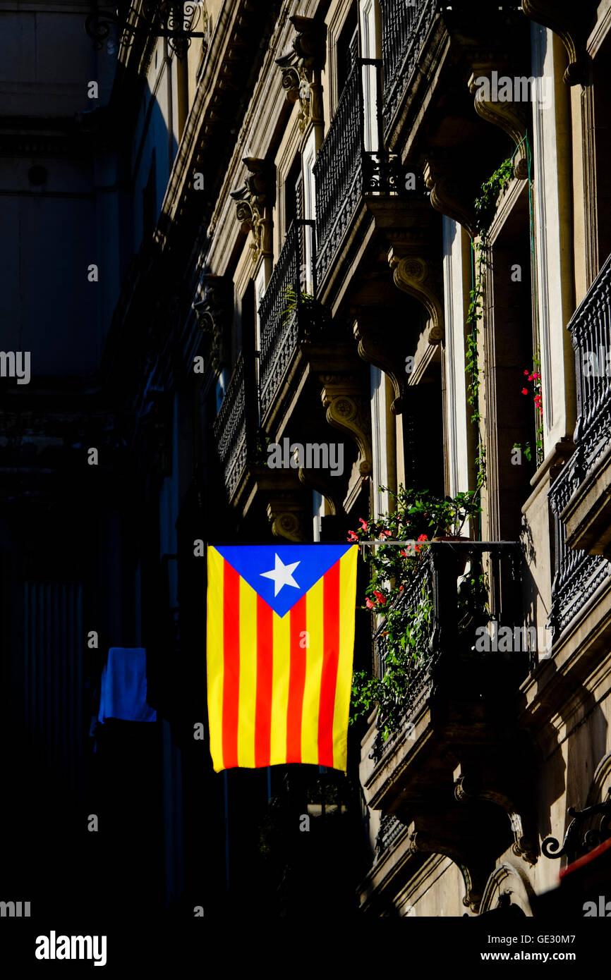 Catalonian Flag - Stock Image