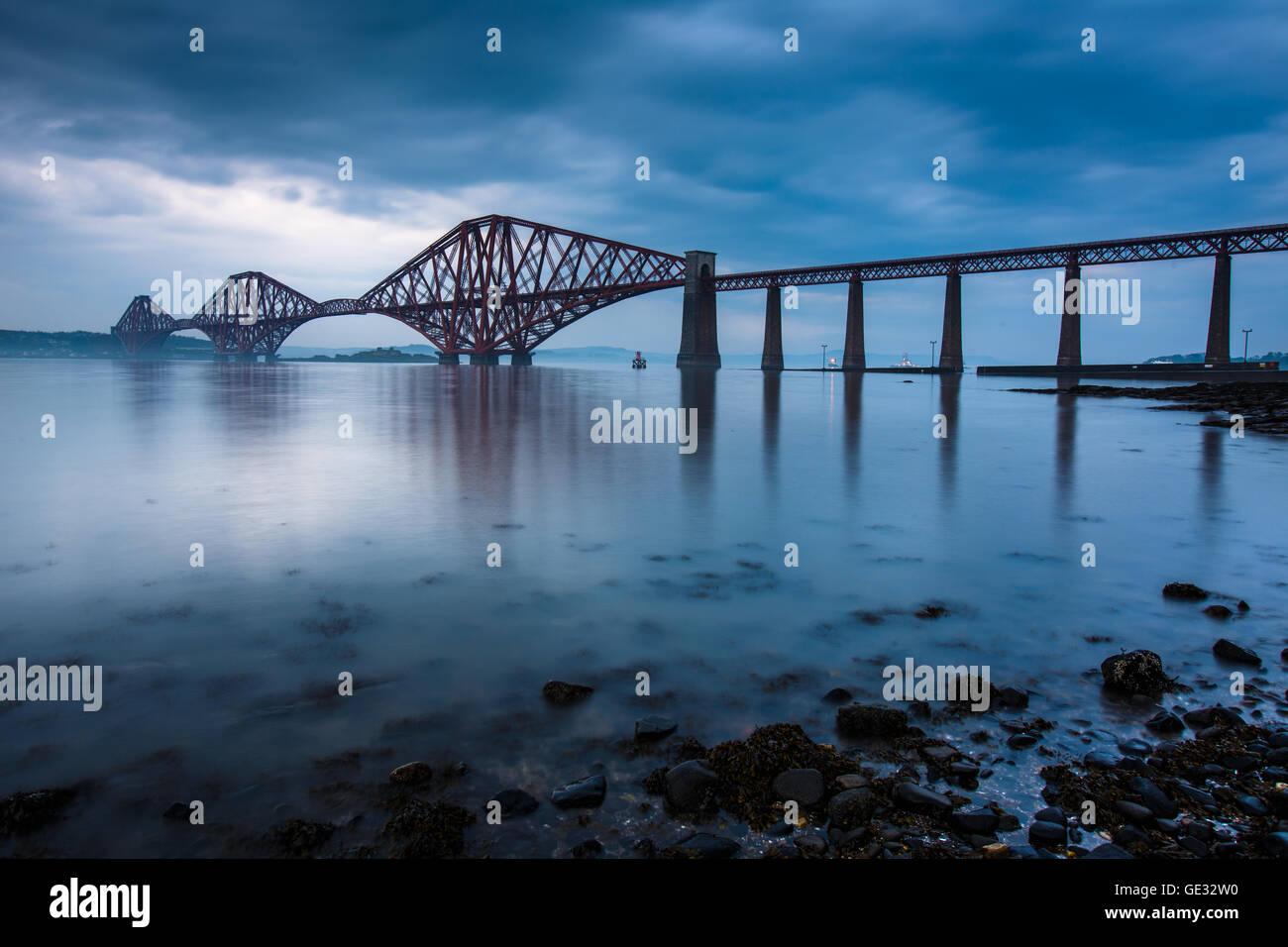 Forth bridges in Edinburgh, Scotland - Stock Image