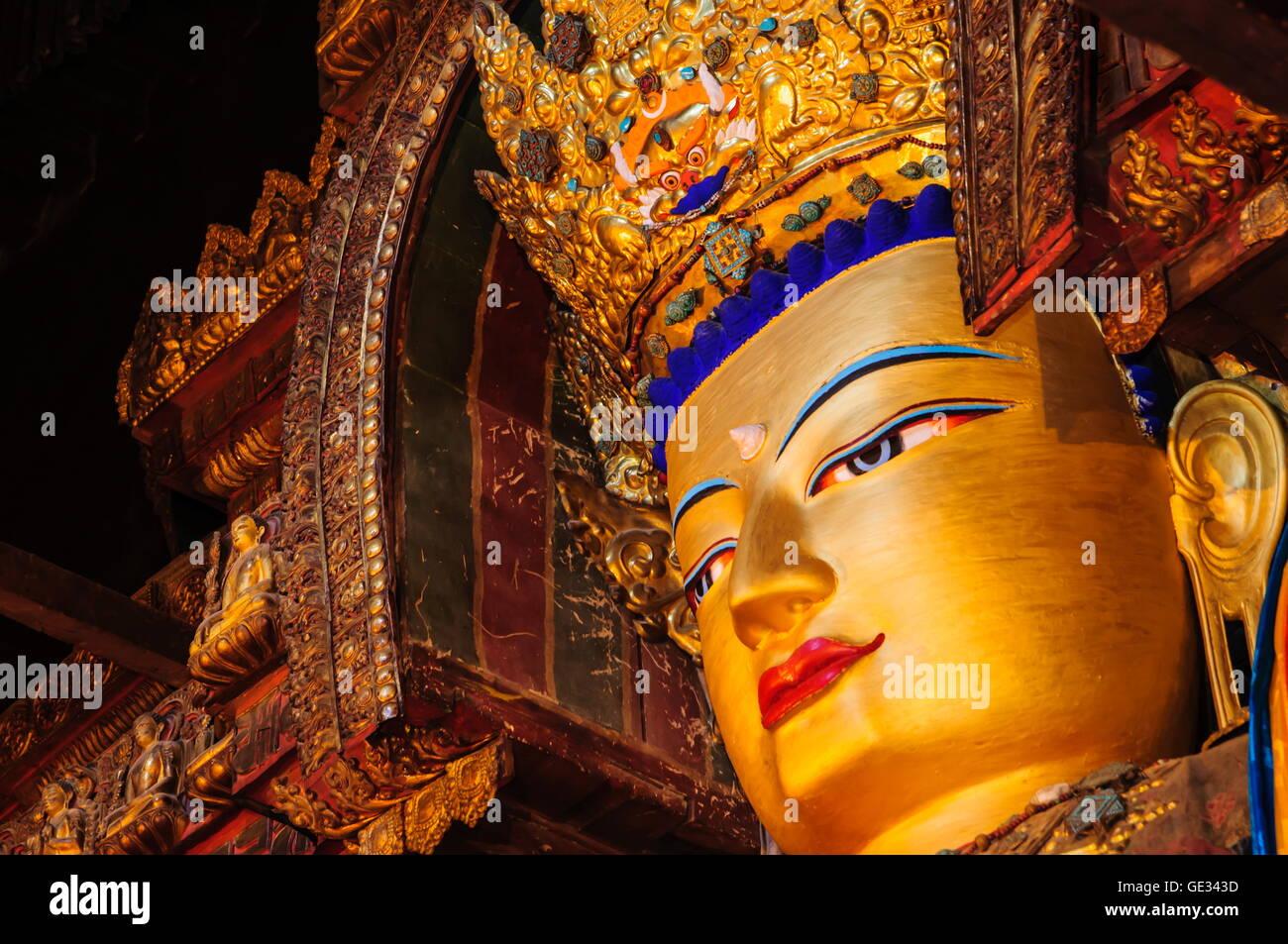 geography / travel, China, Tibet, Gyantse, Buddha Shakyamuni, Additional-Rights-Clearance-Info-Not-Available - Stock Image