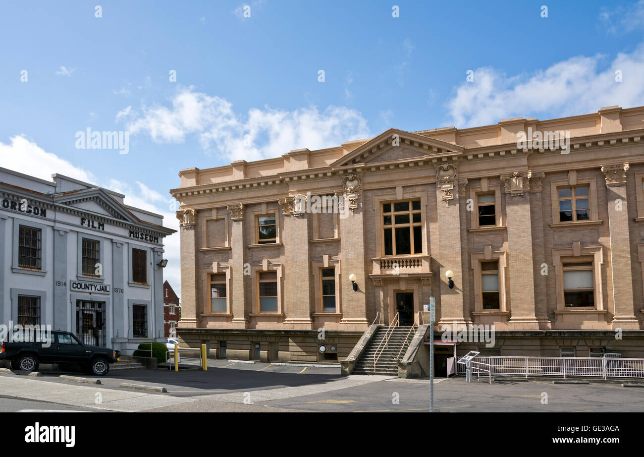 Clatsop County Courthouse building in Astoria, Oregon. - Stock Image