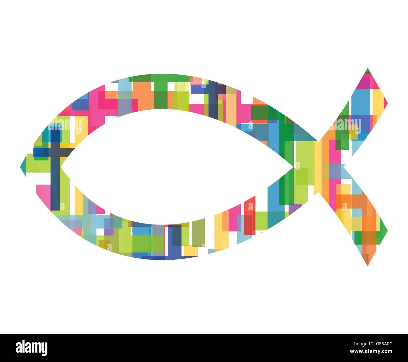 Christian Fish Jesus Symbol Abstract Vector Background Concept Stock