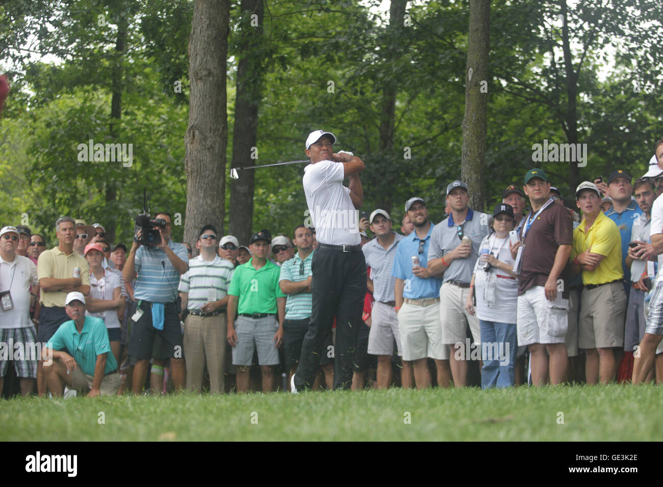 GAINESVILLE, VA - JULY 30: Tiger Woods pictured at round 1