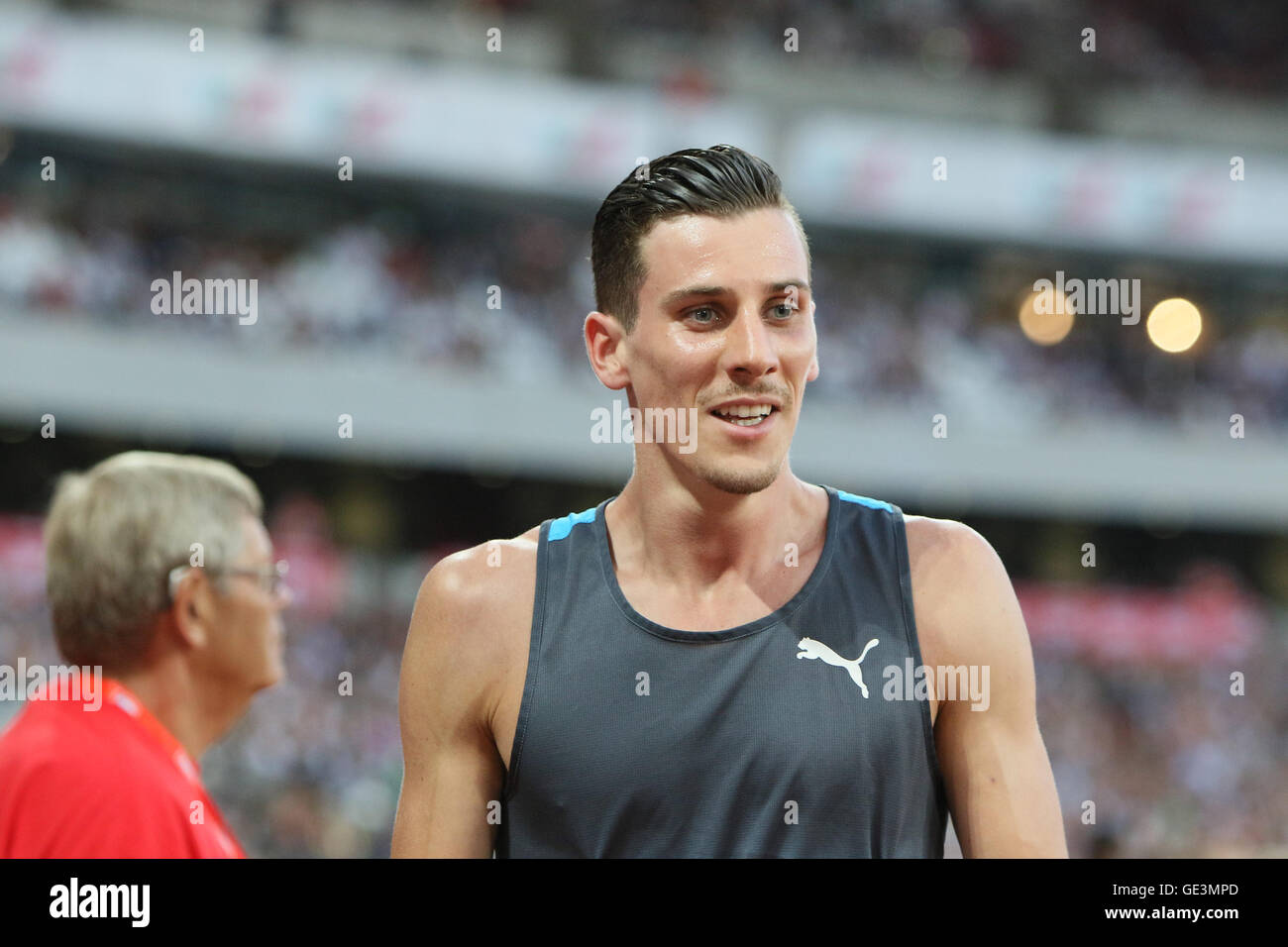 London, UK. 22nd July, 2016. IAAF Diamond League Anniversary Games. Vicout takes first place in the mens 100m. Credit: - Stock Image