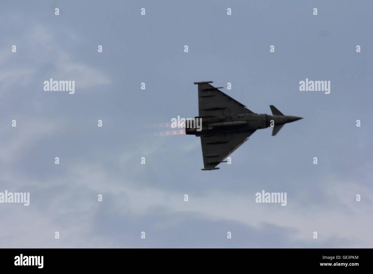 Sunderland International Airshow, RAF Typhoon (Typhoon FGR4) - Stock Image