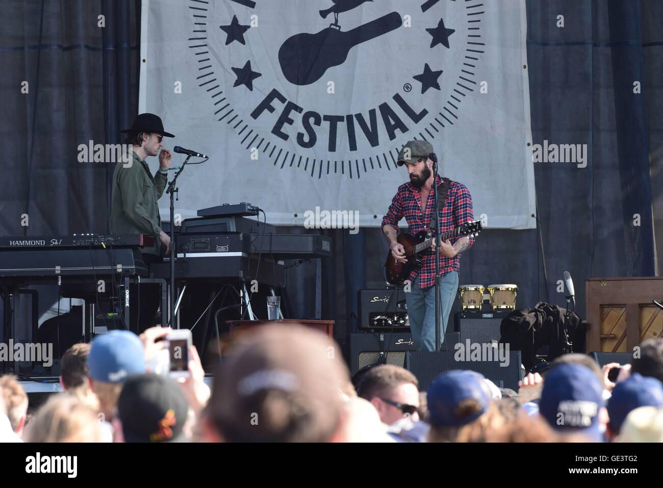 Newport, RI, USA. 23rd July, 2016. Ray LaMontange at the 2016 Newport Folk Festival. Newport, RI. 7/23/16. Sun Sentinel - Stock Image