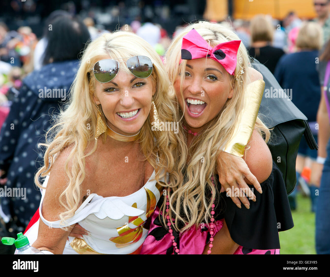 Perth, Scotland, UK. 23rd July, 2016. Revellers at The Rewind 80s festival Scone Palace ,Perth,Scotland,UK Credit: - Stock Image