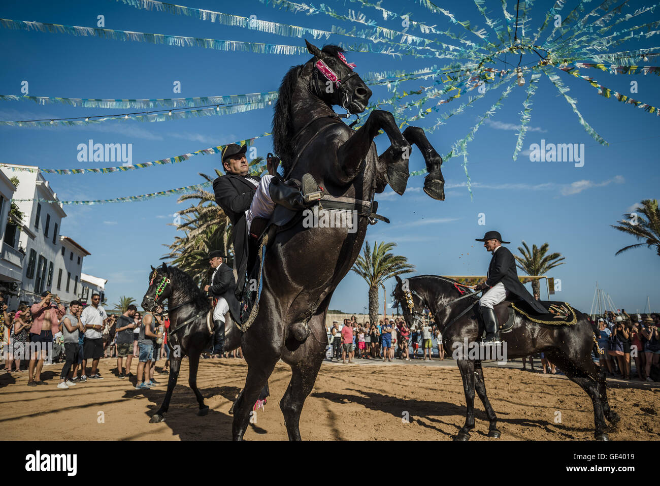 Fornells, Balearic Islands. 23rd July, 2016. Menorca, Spain - A ...
