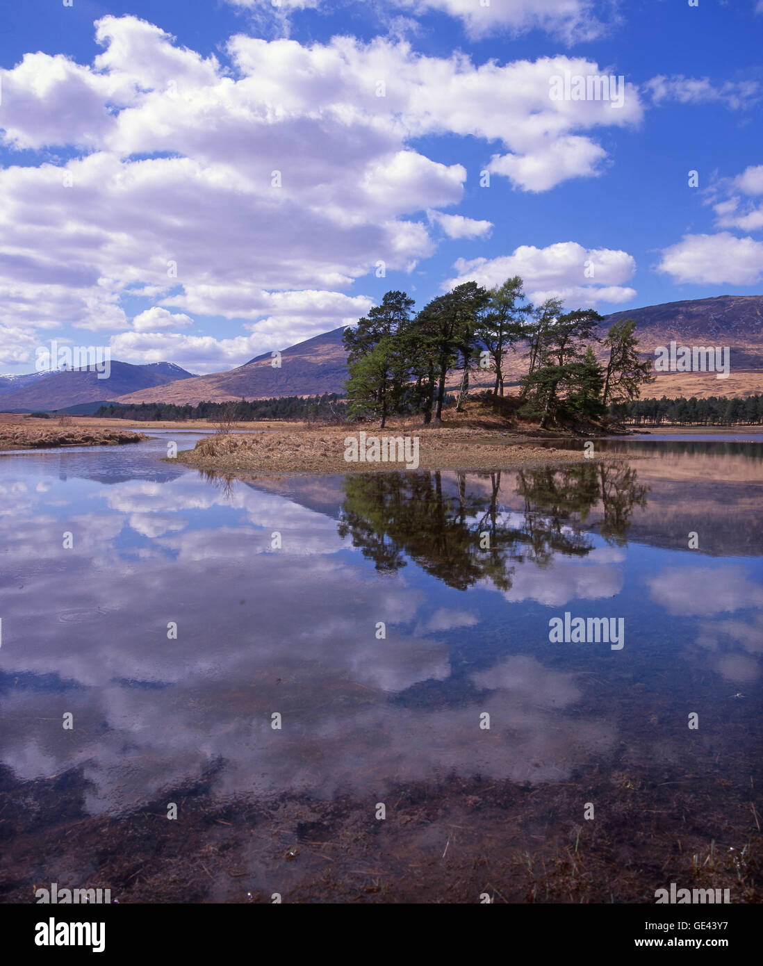 Reflections on Loch Tulla, West Highlands - Stock Image