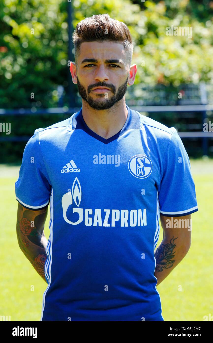 football, Bundesliga, 2016/2017, FC Schalke 04, team presentation for the game season, portrait Junior Caicara - Stock Image