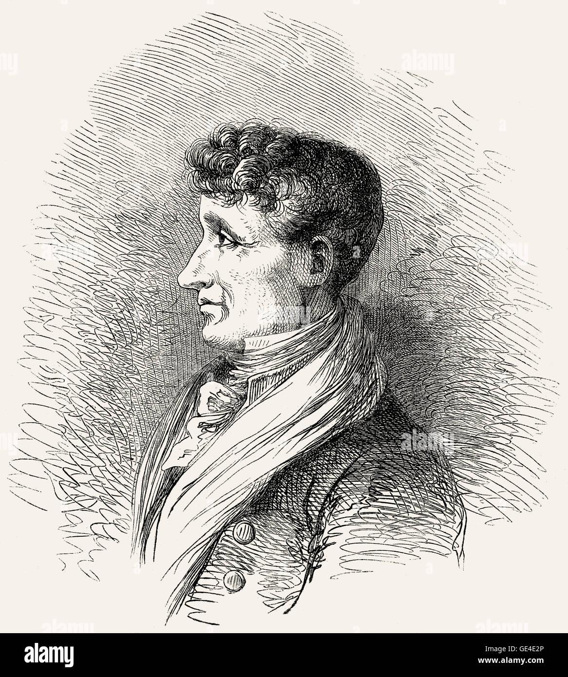 Joseph Joubert, 1754-1824, a French moralist and essayist - Stock Image