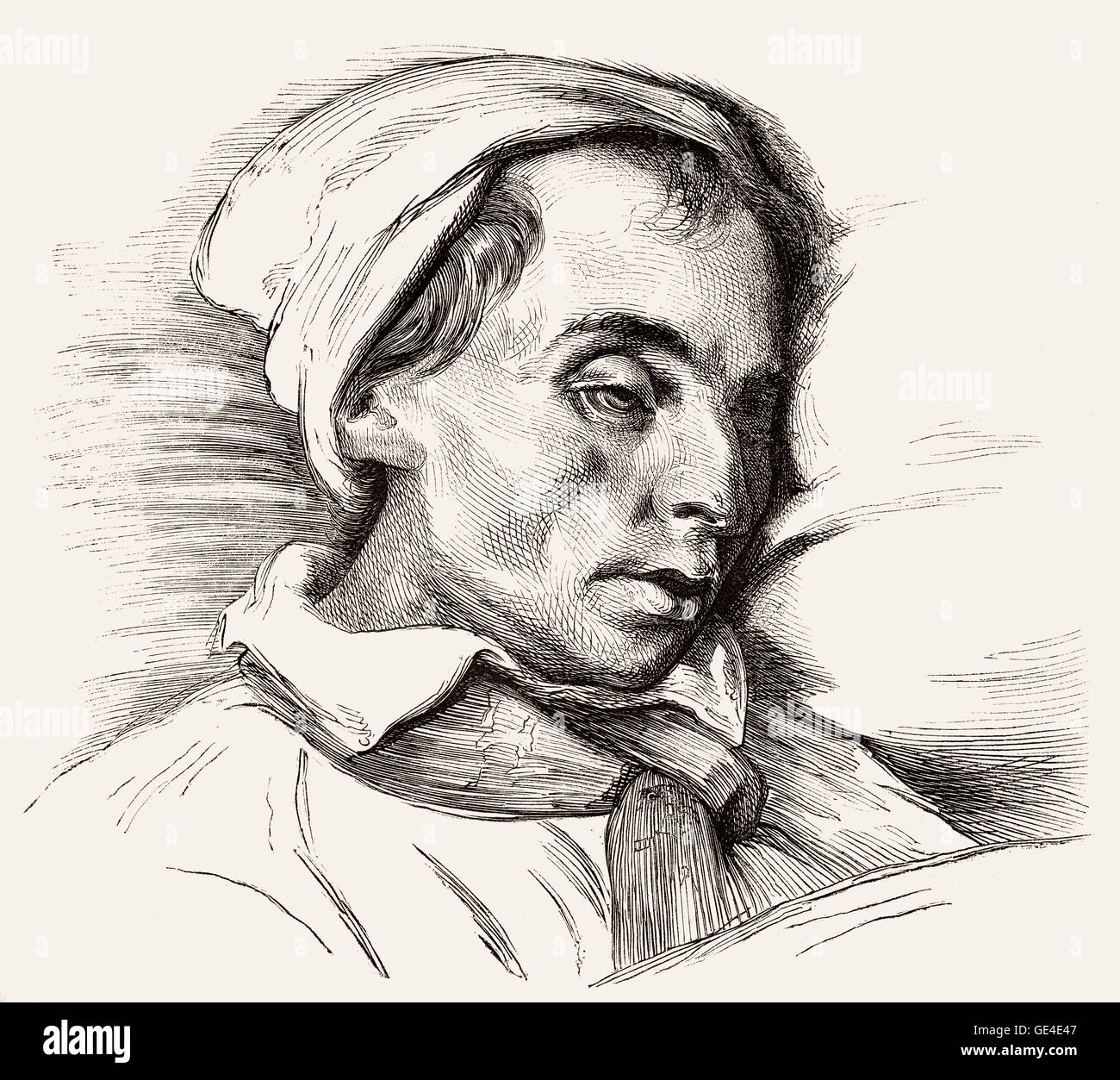 Louis Joseph Ferdinand Hérold, 1791-1833, French operatic composer, at the deathbed - Stock Image