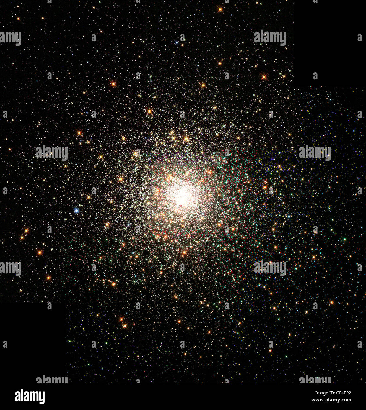This stellar swarm is M80 (NGC 6093), one of the densest of the 147 known globular star clusters in the Milky Way - Stock Image