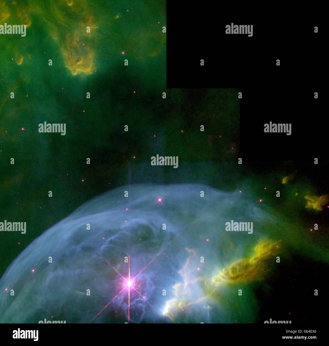 Astronomers, using the Wide Field Planetary Camera 2 on board NASA's Hubble Space Telescope in October and November Stock Photo