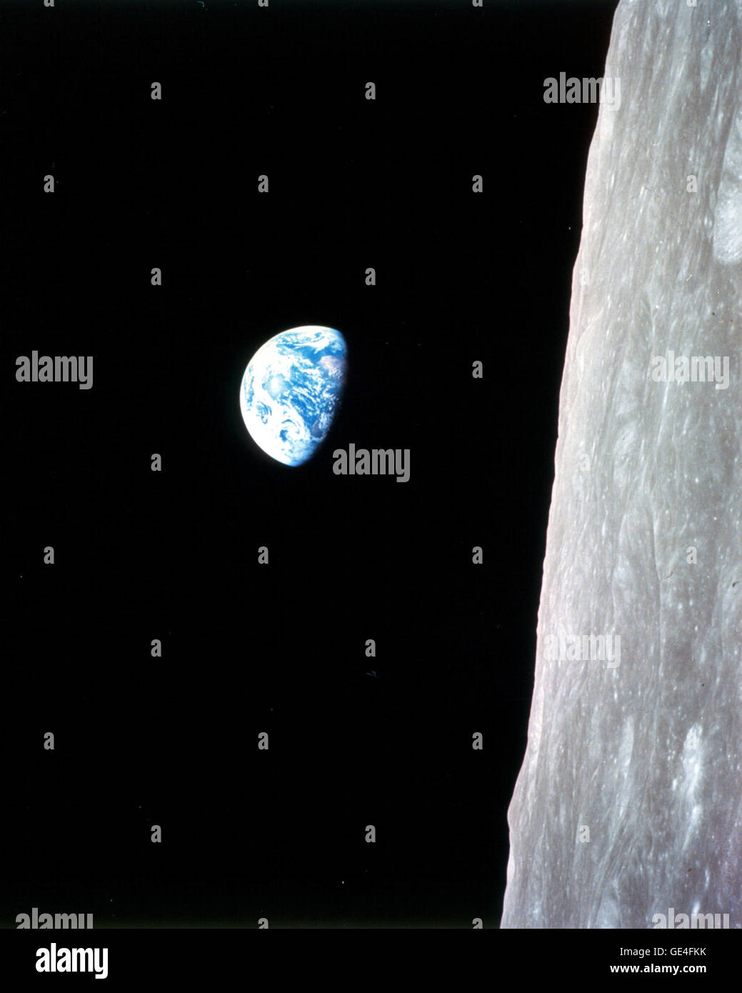 (December 24, 1968) This view of the rising Earth greeted the Apollo 8 astronauts on December 24, 1968 as they came - Stock Image