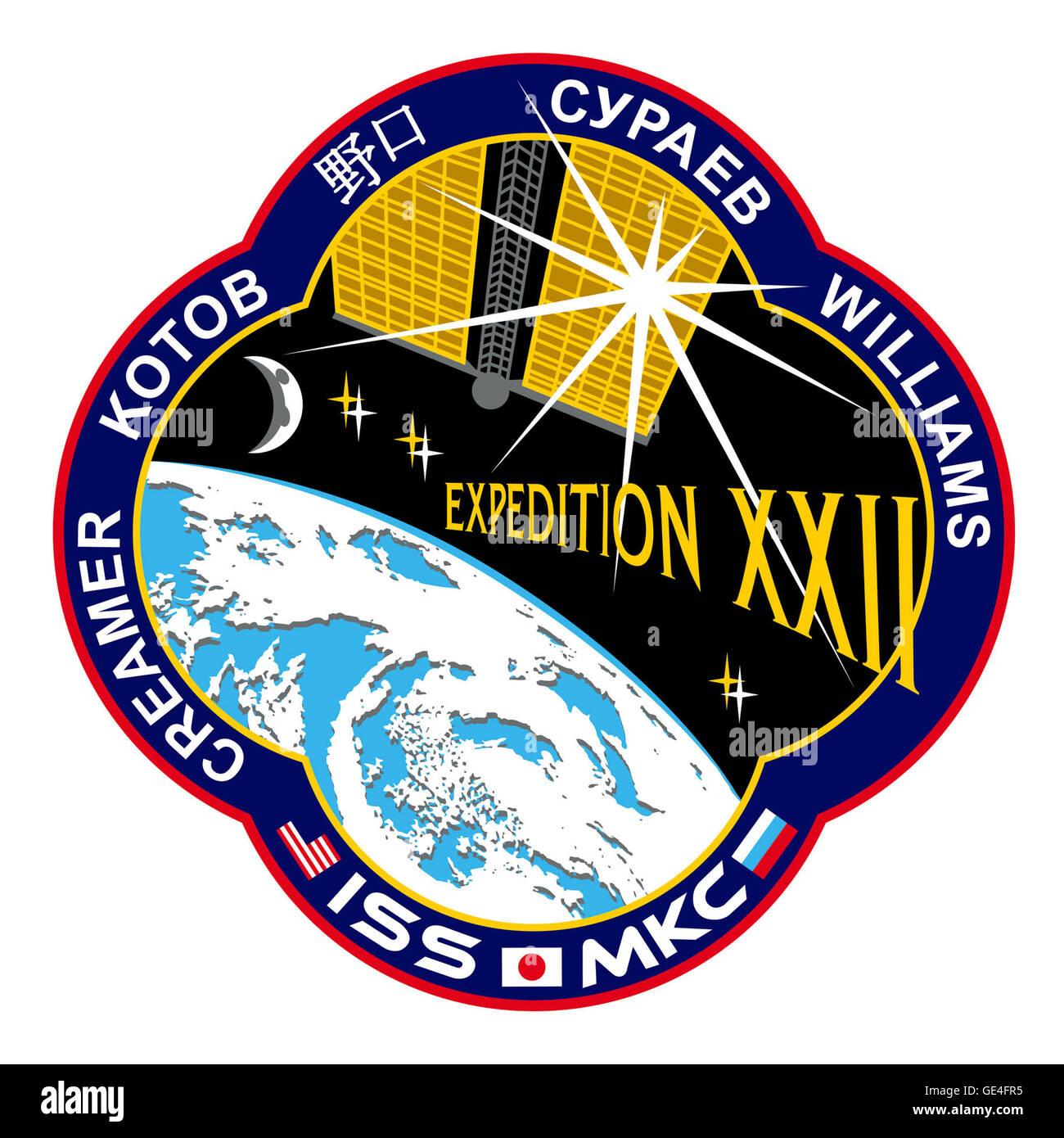 Launch: Soyuz TMA-16 September 30, 2009 Landing: March 18, 2010 Launch: Soyuz TMA-17 December 20, 2009 Landing: - Stock Image