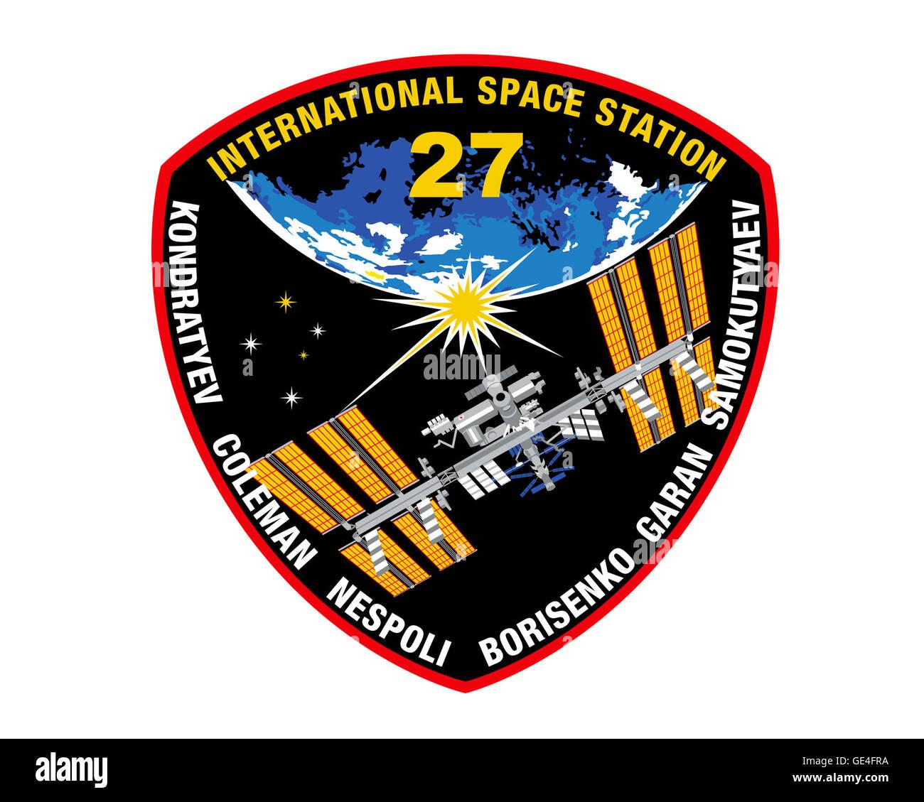 Launch: Soyuz TMA-20 December 15, 2010 Landing: May 23, 2011 Launch: Soyuz TMA-21 April 4, 2011 Landing: September - Stock Image