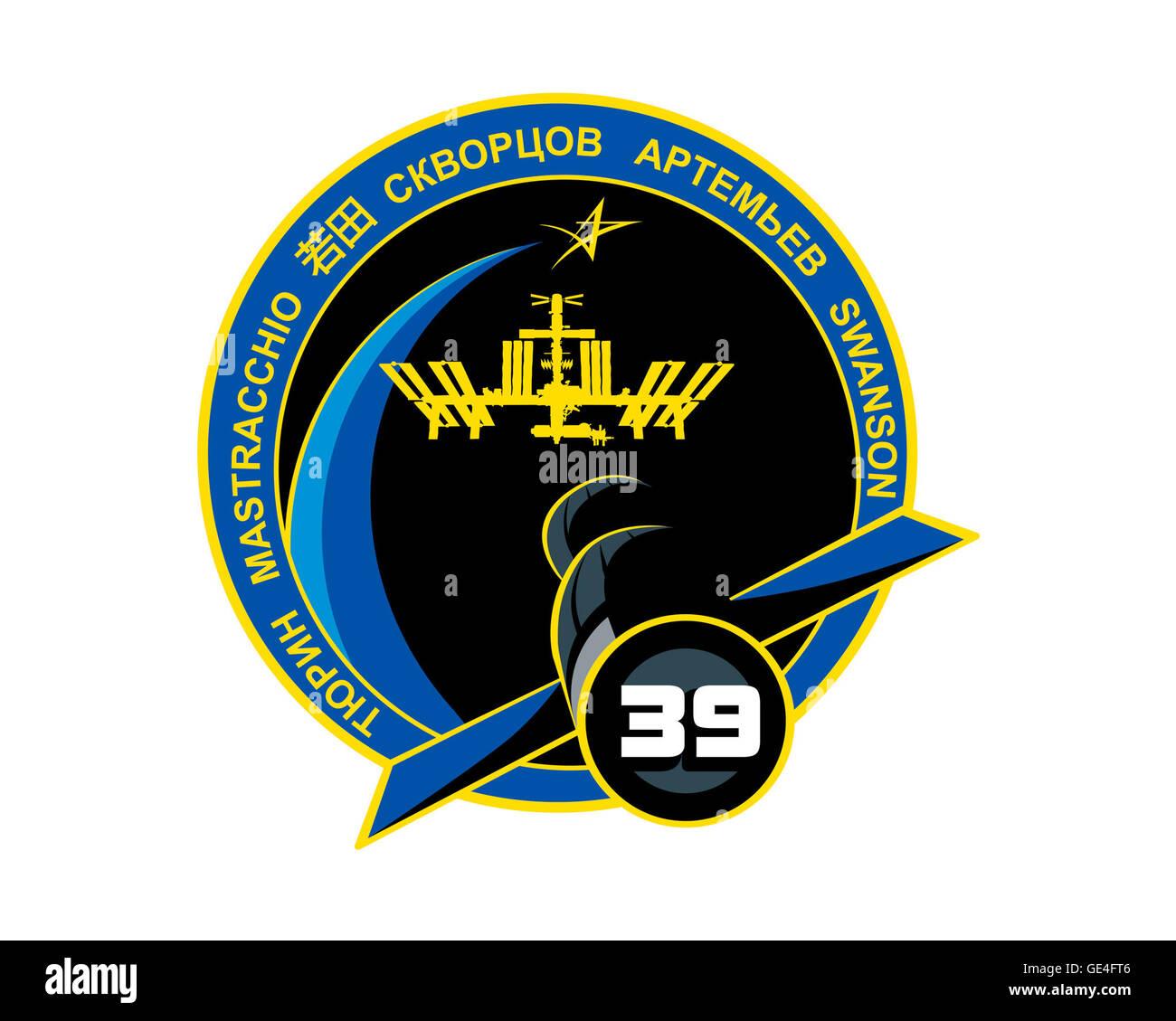 Launch: Soyuz TMA-11M November 6, 2013 Landing: May 13, 2014 Launch: Soyuz TMA-12M March 24, 2014 Landing: September - Stock Image