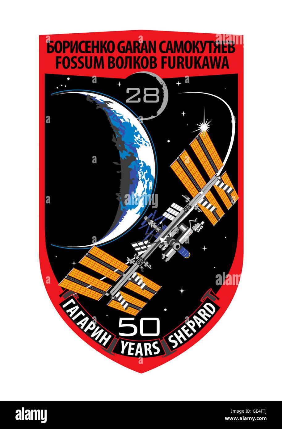 Launch: Soyuz TMA-21 April, 4 2011 Landing: September 15, 2011 Launch: Soyuz TMA-02M June 7, 2011 Landing: November - Stock Image