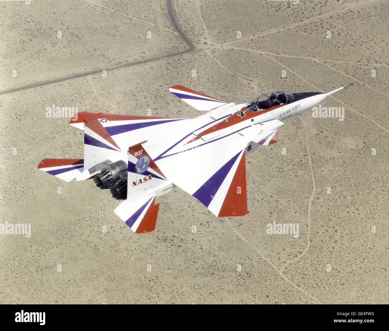 Engine Control Stock Photos Images Alamy Schematic August 1958 American Modeler Airplanes And Rockets 1 1997 The F 15 Active In Flight Over Mojave