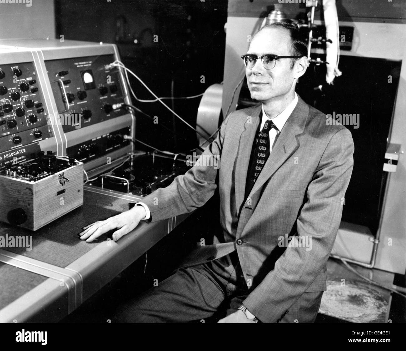 John Robinson Pierce, the former director of research at AT&T Bell Telephone Laboratories. Born in Des Moines, - Stock Image