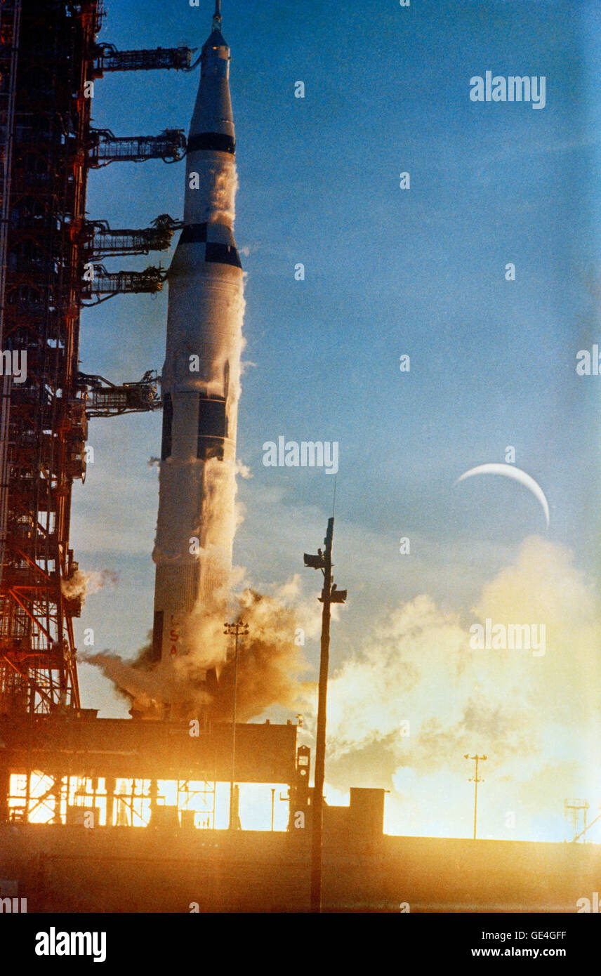 The Apollo 8 (Spacecraft 103/Saturn 503) space vehicle is launched from Pad A, Launch Complex 39, Kennedy Space - Stock Image