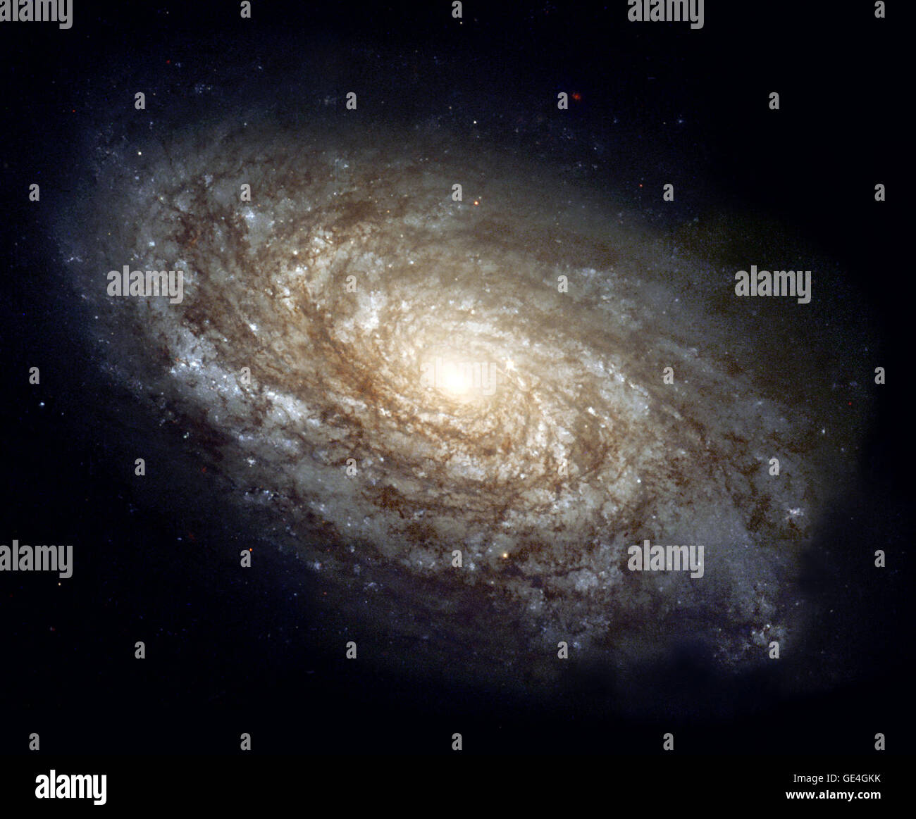 (June 3, 1999) In 1995, the majestic spiral galaxy NGC 4414 was imaged by the Hubble Space Telescope as part of Stock Photo