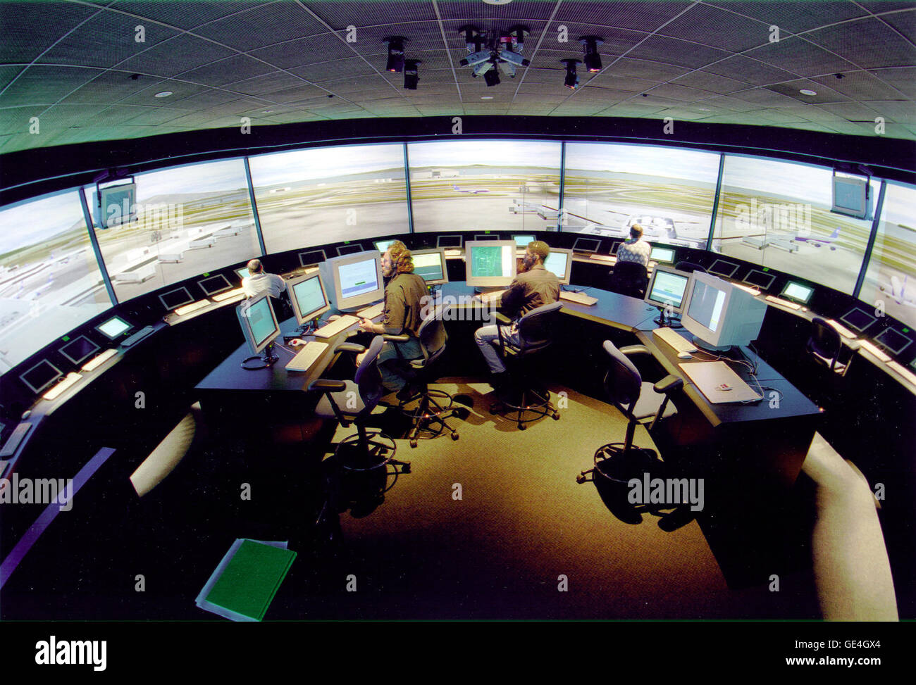NASA's Virtual Airport Tower is located at the Ames Research Center, Moffett Field, California. The Virtual - Stock Image