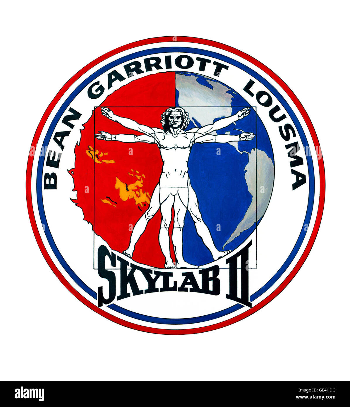 Launch- July 28, 1973  Landing- September 25, 1973 Astronauts: Alan L. Bean, Jack R. Lousma, and Owen K. Garriott Stock Photo