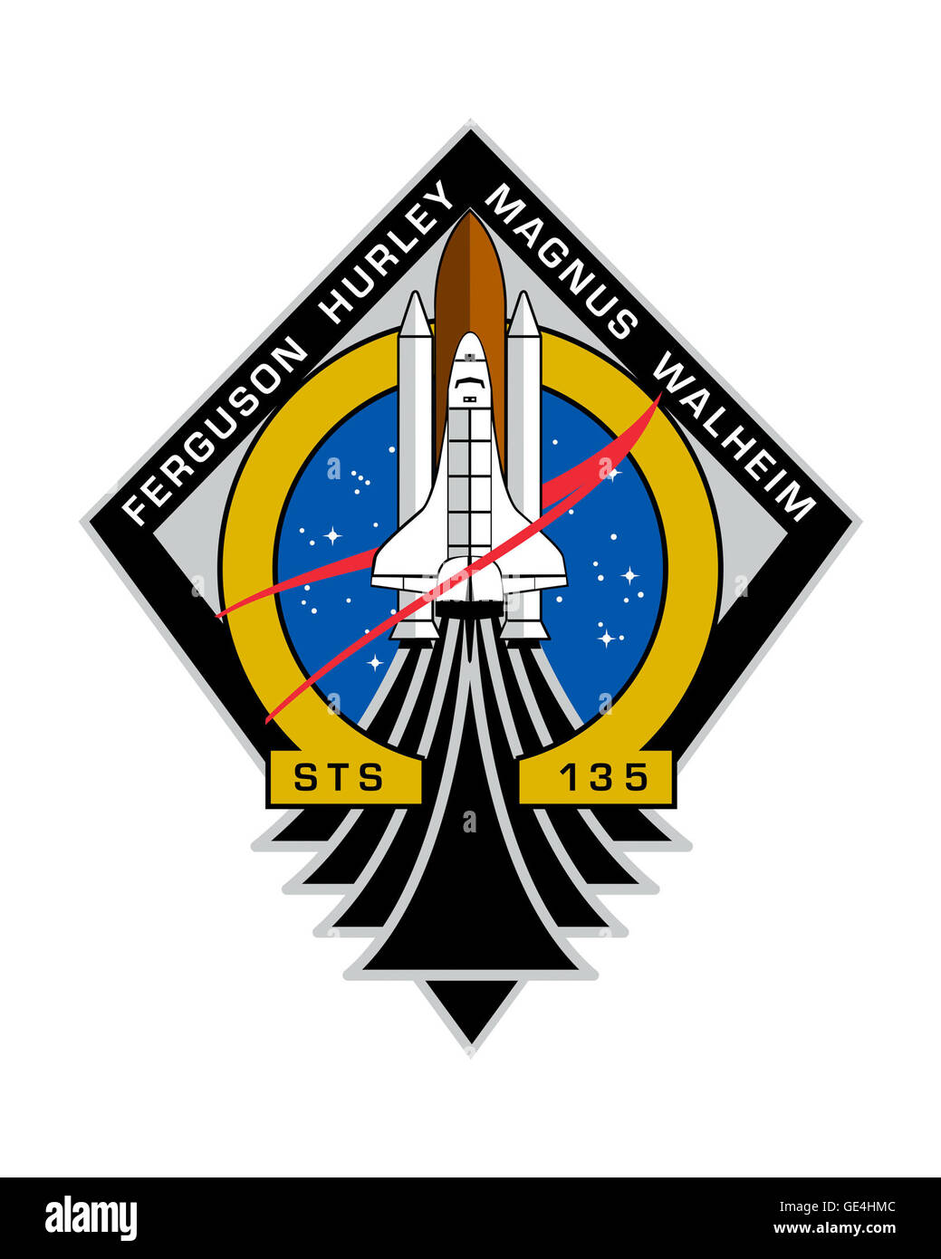 Launch: July 8, 2011, 11:29 am EDT Landing: July 21, 2011, 5:57 am EDT, Kennedy Space Center Space Shuttle: Atlantis - Stock Image
