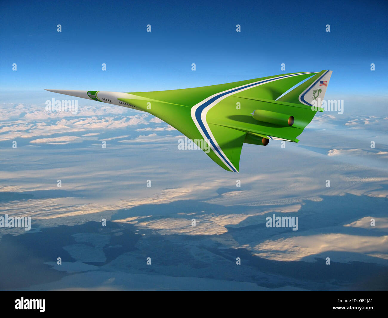This updated future aircraft design concept from NASA research partner Lockheed Martin shows a few changes from - Stock Image