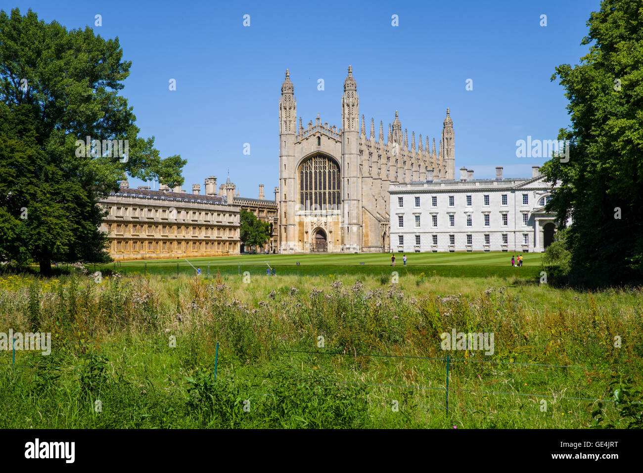 A view of the historic King's College in Cambridge, UK. - Stock Image