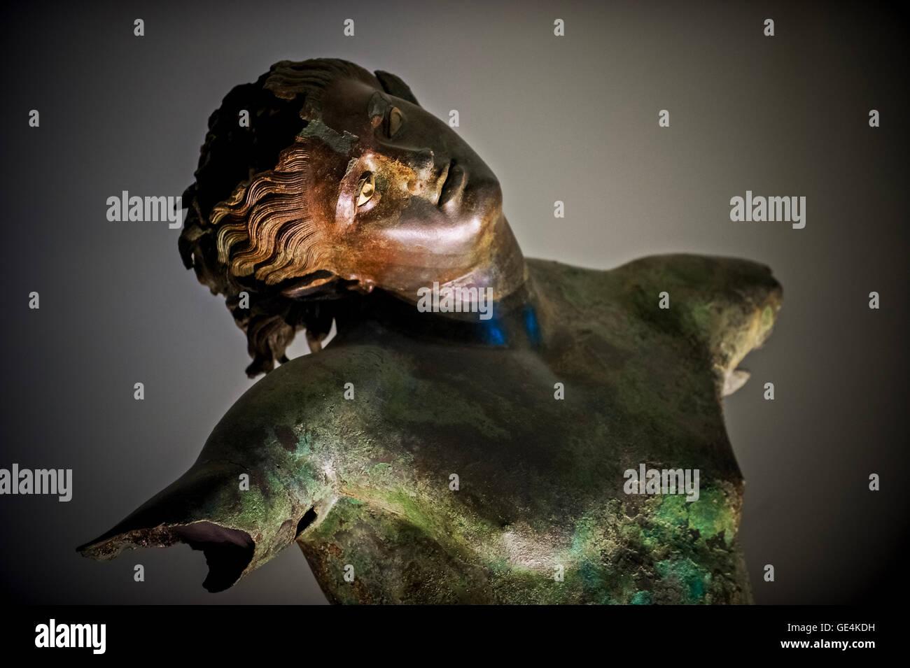 Italy Sicily Mazara del Vallo dancing satyr Museum - Stock Image