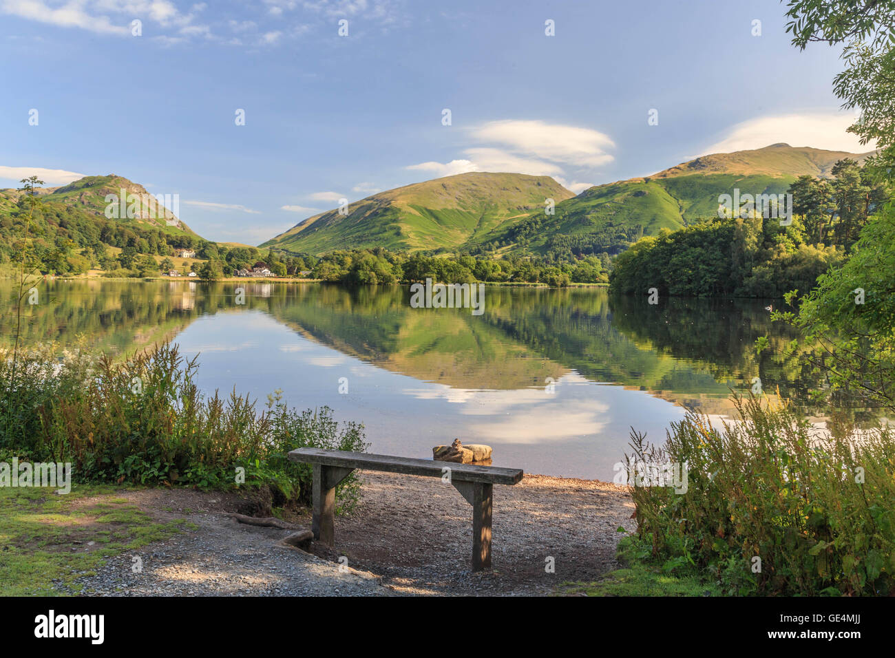 Grasmere lake - Stock Image