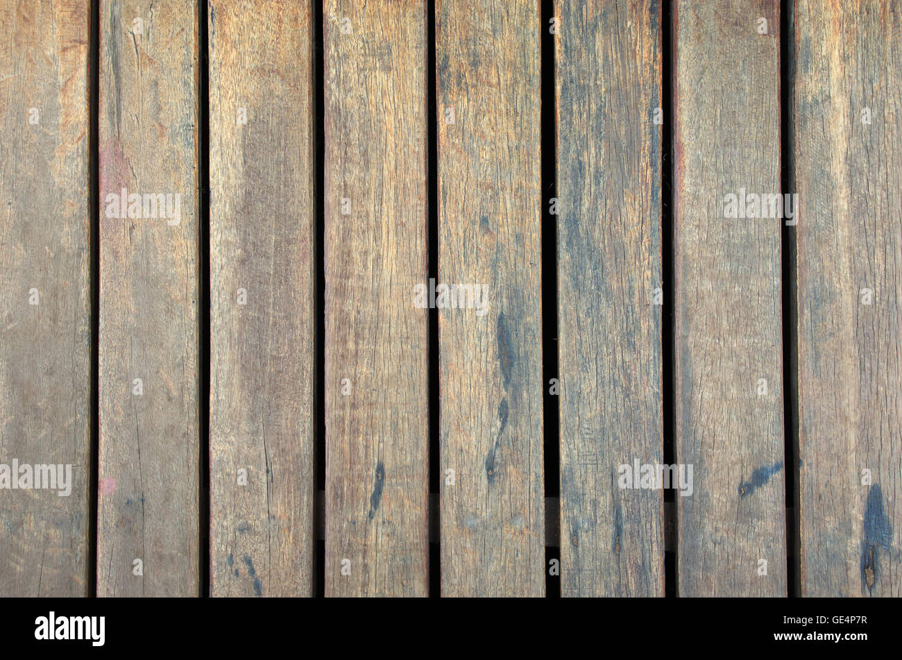 Wooden plates assembled together for graphic resource usage - Stock Image