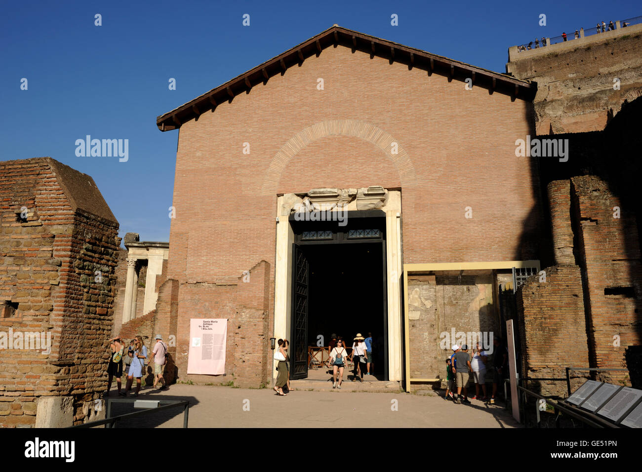 Oratory of the Forty Martyrs, Roman Forum, Rome, Italy - Stock Image