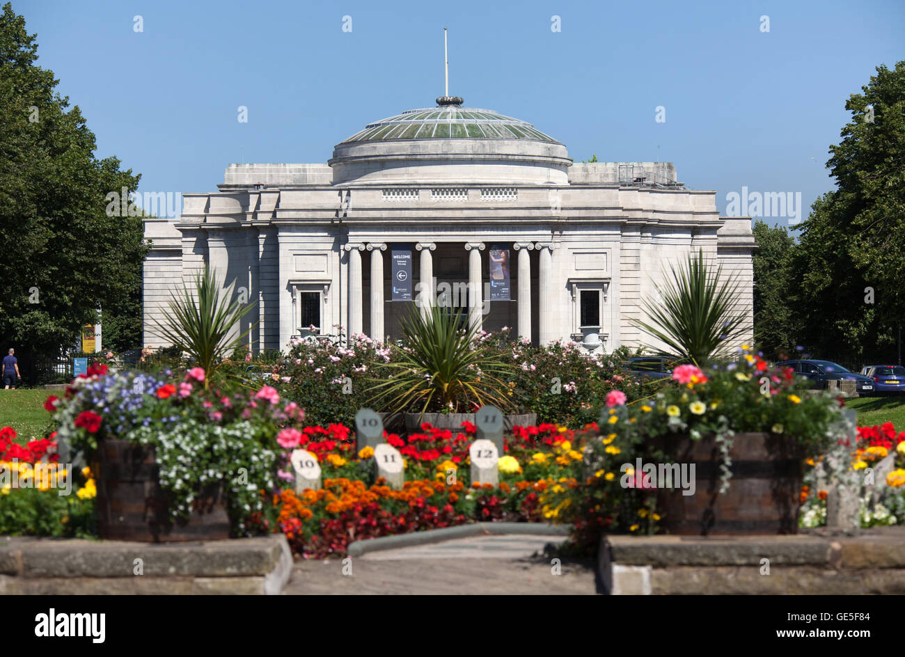 Village of Port Sunlight, England. Picturesque summer view of the William and Segar Owen designed Lady Lever Art - Stock Image