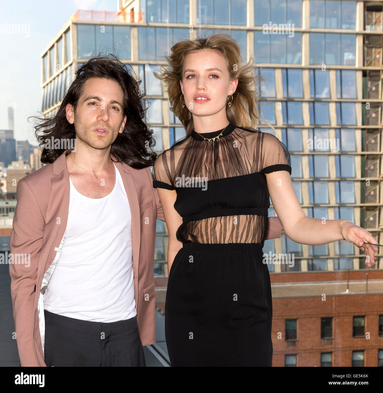 NEW YORK, NY - JULY 21, 2016: Georgia May Jagger and Gregory DelliCarpini Jr attend the Thomas Sabo New Collection - Stock Image