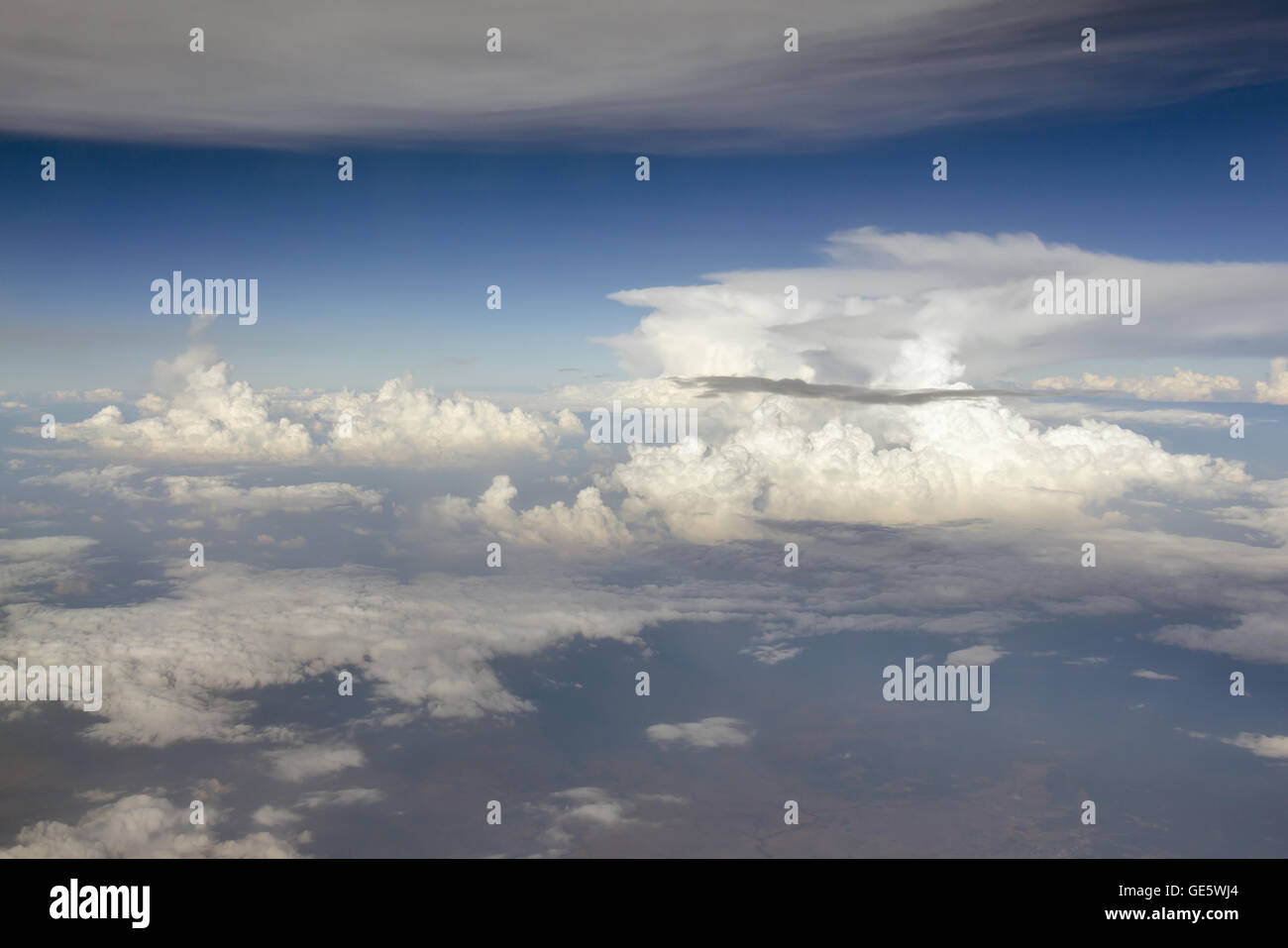 Sky background with cloudy scene (Summer day sky) for graphic usage - Stock Image