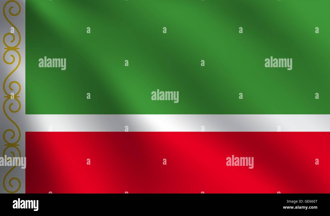 Chechen Republic flag - Stock Image