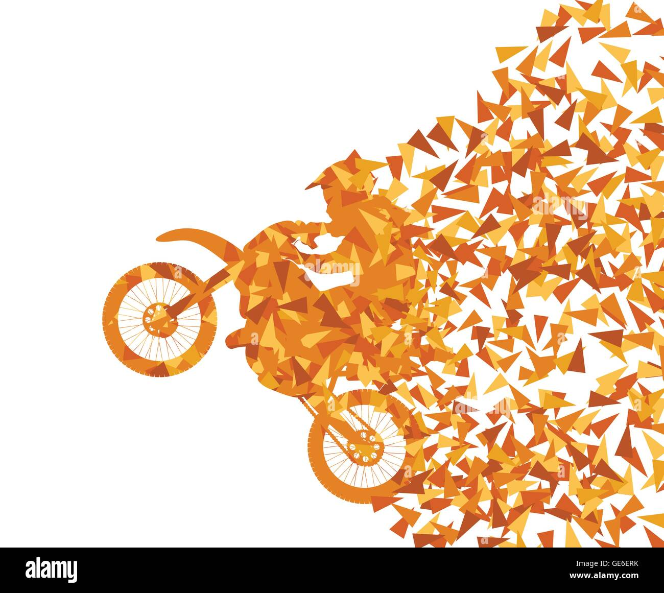 Motorcycle abstract background vector concept - Stock Vector