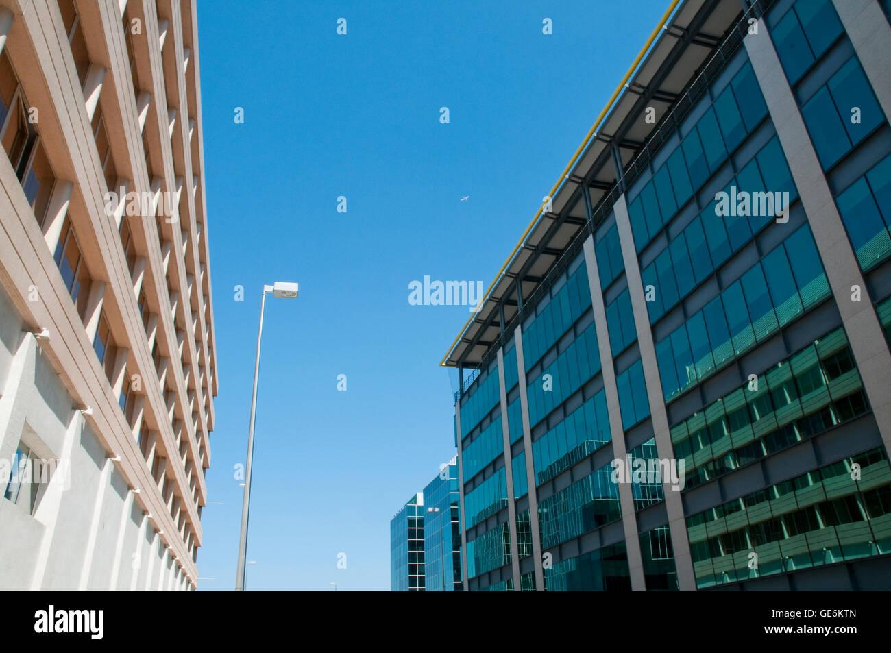 Office buildings. Campo de las Naciones, Madrid, Spain. - Stock Image