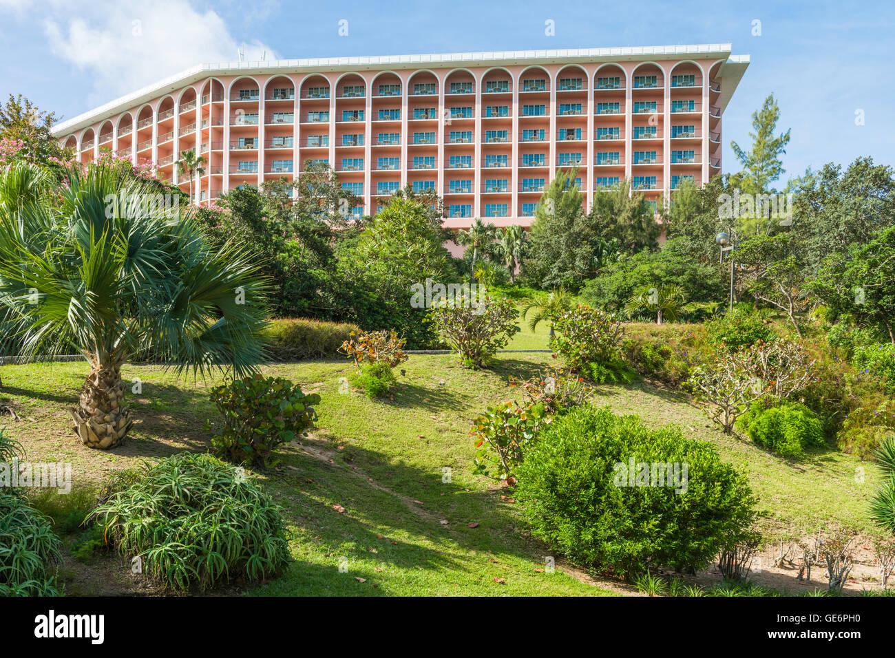 The Fairmont Southampton luxury resort at Southampton, Bermuda - Stock Image