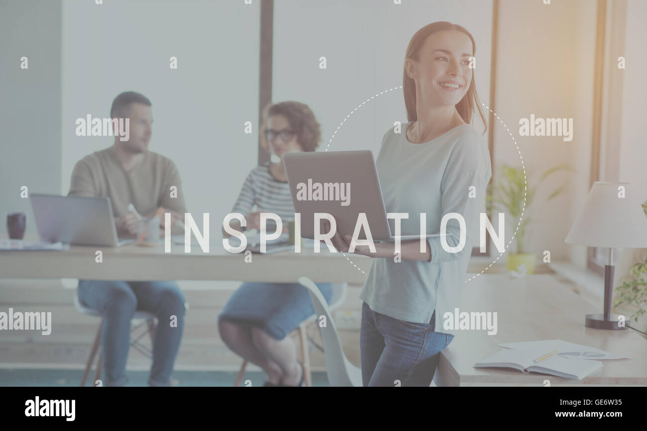 Inspiration and creativity concept - Stock Image