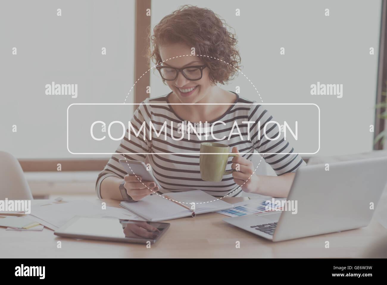 Modern communication concept - Stock Image