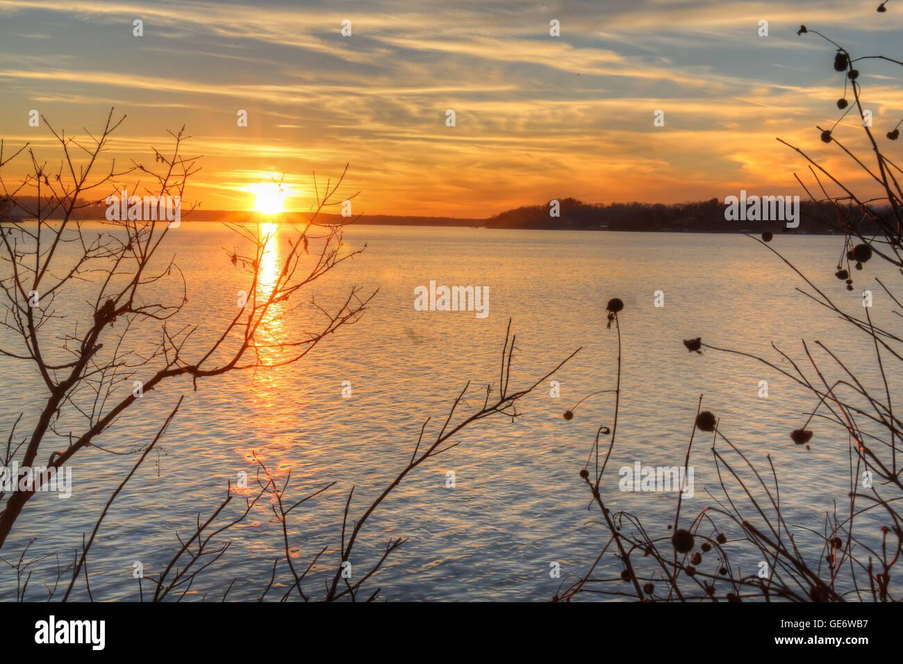Grand Lake in Oklahoma - Stock Image