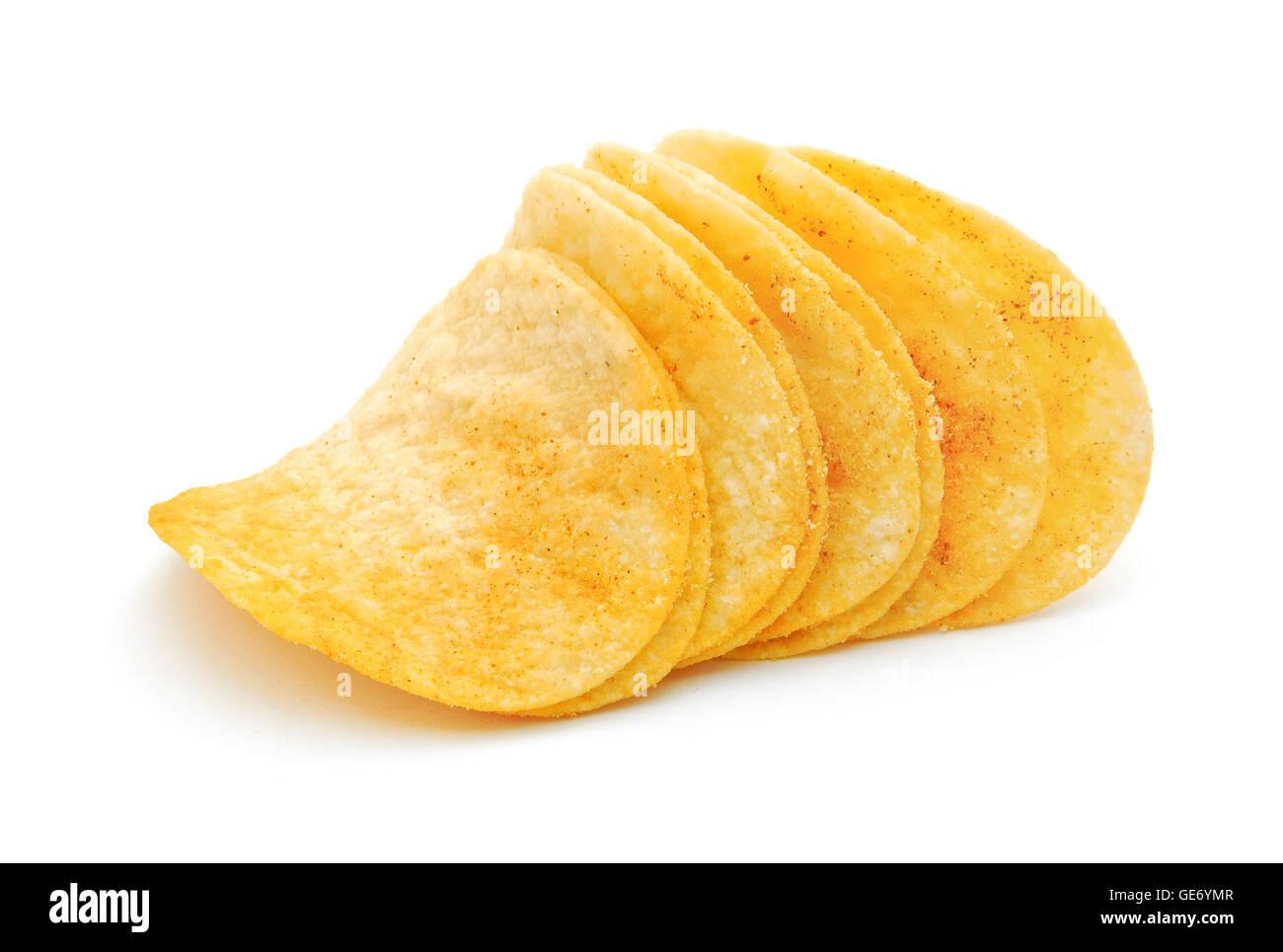 potato chips isolated Stock Photo